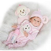NPKDOLL Rebornベビー人形高ビニル20インチ50 cm Lifelike鮮やかな防水少年少女おもちゃrd50z009go