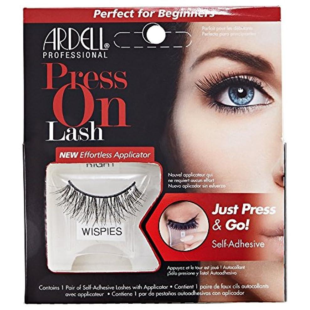 絶望的なテラス写真を撮るArdell Press On Lashes Self-Adhesive - Wispies Black