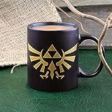 Paladone Legend of Zelda Hyrule Ceramic Coffee Mug Collectors Edition, Black & Gold, 8.5x14x10.6 cm
