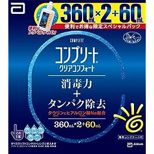 エイエムオー・ジャパン コンプリート クリアコンフォート 洗浄・すすぎ・消毒・保存液 (ソフト用) 360mLx2+60mL (コンタクトケア用品)