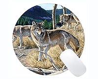 Yantengの賭博のマウスマット、動物のオオカミの像の賭博のマウスパッドのマット