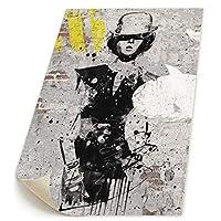 Hao Jinsun Fashion Woman In Style Of Cabaret On Brick Wall ポスター フレームなし キャンバスファブリック布印刷 インテリア 現代壁の装飾 リビングルーム お店 模様替え 20x30cm