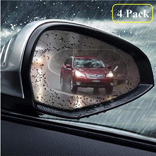 4 PCS Car Rearview Mirror Protective Film, Digic HD Anti-Fog Nano Coating Rainproof Film, Anti-glare, Anti-scratch, Waterproof Protector Film for Rear view Mirror, 100mm * 145mm