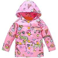 Kids Lightweight Jackets Hooded Windbreaker for Baby Girls Boys Rain Coat with Mesh Liner