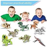 PSFS 8ピース 恐竜 DIY 玩具 DIY 組み立てブロック アクションフィギュア プレイセット 子供用 PSFS