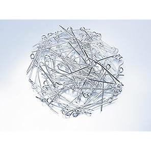 【金具】9ピン 0.7×28ミリ 白銀 約100本
