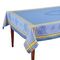 Senanque Bleu Frenchジャカードテーブルクロス 63 x 79 (4-6 people) ブルー OCCPV100581