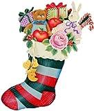 トールペイント 図案付白木素材 クリスマスソックスセット