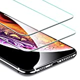 ESR iPhone XS MAX ガラスフィルム 【旭硝子製5倍強化 2枚セット】 アイフォンXS MAX ガラスフィルム 6.5インチ 強化ガラス 高品質 保護フィルム 業界最高硬度9H / 高光透過率 / 3D Touch/飛散防止 / 指紋防止 (ライフタイム保証付き iPhoneXS MAX 専用 2枚セット)