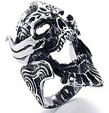 PW 高品質チタン製牙狼ザルバ仕様指輪リンク 21017 シルバー(銀色) 【ラッピング対応】