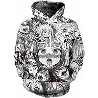 Kowelso 3D Print Funny Sweatshirt Men/Women Anime Ahegao Hoodie Unisex Hoodies