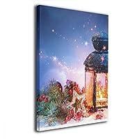 Dickey Bowen クリスマス 雪 壁掛け絵画 壁の絵 水彩画 油絵 油彩 絵画 風景画 現代 モダン 壁絵 装飾画 木製 キャンバス インテリア 装飾品 壁掛け 額縁なし ポスター アート 抽象 画像 印刷 ホーム オフィス 部屋 居間 装飾 ユニーク ギフト ウォールアート フレームなし 子供 大人