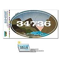 34736 グローブランド, FL - 川岩 - 楕円形郵便番号ステッカー