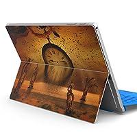 Surface pro6 pro2017 pro4 専用スキンシール サーフェス ノートブック ノートパソコン カバー ケース フィルム ステッカー アクセサリー 保護 クール 時計 イラスト 004862