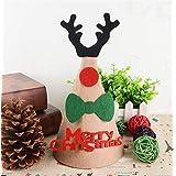 HuaQingPiJu-JP DIYハンドメイドハットクリスマスハットホリデーパーティーハットクリスマスデコレーション(アントラーズ)