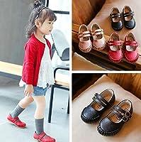 2017年可愛いデザインの子供靴&ぺたんこ柔らかい子供皮靴3色サイズ21-30