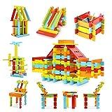 積み木 VFunix 立体パズル 水洗い60ピース カラフルな知育玩具 収納ケース付き 誕生日祝いプレゼント