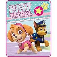 1ピース40x 50キッズピンクブルーPaw Patrolスロー毛布、幾何子犬犬Star犬Prints警察Cartoon Character Cuteソフトピクニック車スタイルアクセント寝具ソファソファ寝室ベッド、ポリエステル