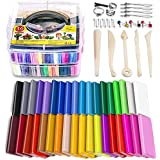 Polymer Clay Starter Kit, 36 Colors Oven Bake Clay, Baking Modeling Clay, DIY Craft Clay, 5 Sculpting Tools, Accessories, and