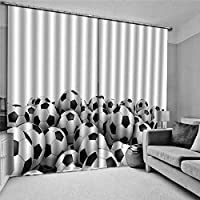 3Dブラックアウトカーテンサッカー窓カーテン断熱ウィンドウトリートメント用キッチン寝室リビングルーム浴室装飾、150x166cm