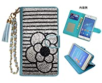 「kaupili」Huawei honor 9 ケース 鏡/ミラー付き カード収納 スタンド機能 手帳型 お財布機能付き 化粧鏡付き