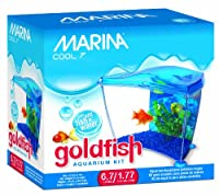 Marina Cool Goldfish Kit, Blue, Small/1.77-Gallon by Marina