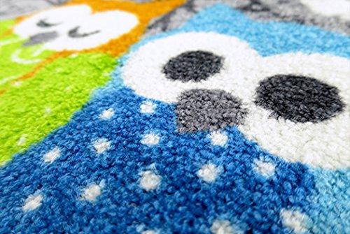 クリーンテックス ジャパン wash+dry薄型で丈夫な洗える玄関マット Welcome Owls 50×75cm 1枚