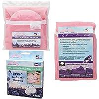 NuAngel Flip and Go Nursing Pad Case with Nursing Blanket and All-Natural Cotton Nursing Pad Set, Pink by NuAngel [並行輸入品]