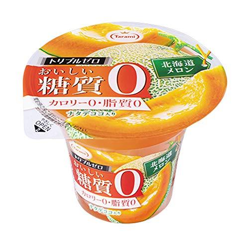 たらみ トリプルゼロおいしい糖質0 北海道メロン 195g ×6個