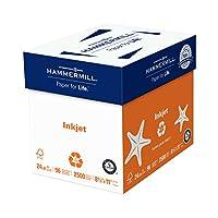 Hammermill紙、プレミアムインクジェットポリラップ、24lb、8.5X 11、手紙、96明るい、2500シート、/、5束ケース(105050C) Made in the USA