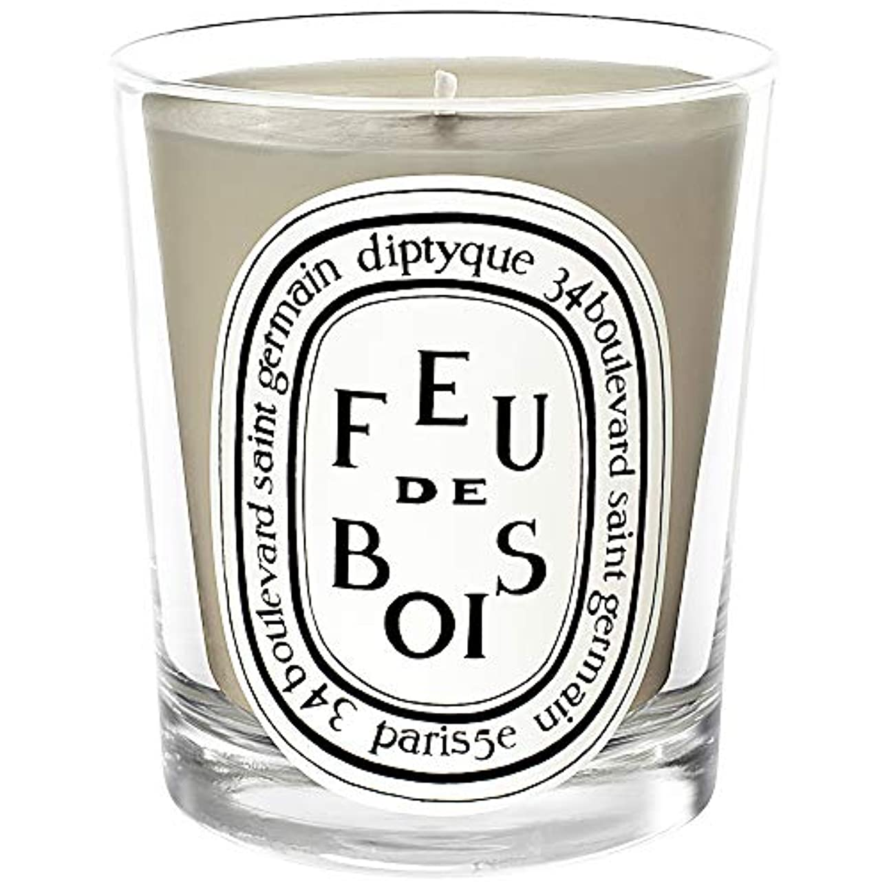 チャーム月面遊具[Diptyque] ミニキャンドル70グラムを香りDiptyqueのFeuデボワ - Diptyque Feu De Bois Scented Mini Candle 70g [並行輸入品]