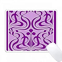 紫と白のビクトリア朝のアールヌーボータイルデザイン PC Mouse Pad パソコン マウスパッド