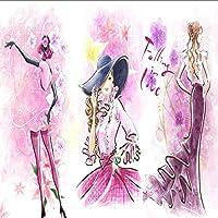 Lixiaoer カスタム壁画壁紙3Dファッショントレンド婦人服店3D写真の壁紙-200X140Cm