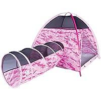 太平洋はテント30470ピンク迷彩テントとトンネルセットプレイ