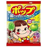 不二家 ポップキャンディ 21本×6袋入×(2ケース)