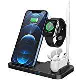 Wireless Charger Stand Charging Station Compatible with Apple Watch 6/SE5/4/3/2,Airpods,iPhone 12/12 Pro/11 Pro/11 Pro Max/XS