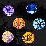 6点セット 提灯 ハロウィン 飾り ちょうちん LED カボチャ バット クモ かぼちゃ 骸骨 ランタン ハロウィン 装飾 イベント お祭り パーティーに by Kungfu Mall 画像