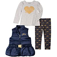 Juicy Couture Baby Girls 3 Pieces Vest Pants Set