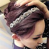 Amazon.co.jpHeyinz(TM)ファッションレトロスタイルの女性カチューシャクリスタルラインストーングレービーズヘッドバンドヘアバンド