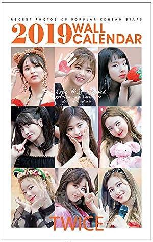 TWICE (トゥワイス) 2019年 (平成31年) フォト 壁掛けカレンダー グッズ (2019 K-Star Photo Wall Calendar)