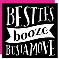 """傾斜カクテルナプキン20カウント"""" Besties Booze Bustamove """""""