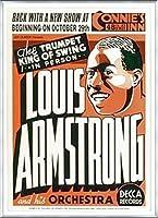 ポスター ルイ アームストロング ルイ アームストロング - Connie\'s Inn NYC、 1935 - 額装品 アルミ製ベーシックフレーム(シルバー)