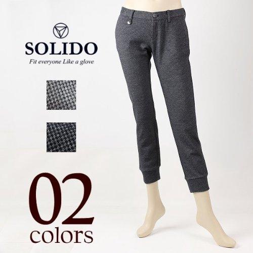 PALLA レディース 裾リブ ウールパンツ LSL14A5570 (2colors) ソリード