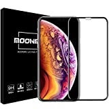 MOONMN iPhone Xs フィルム / iPhone X ガラスフィルム 3D 旭硝子製 硬度9H iPhone Xs 強化ガラスフィルム