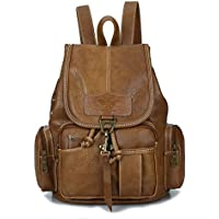 Womens New Fashion Backpack Vintage Style Leather Backpack Purse for Girls