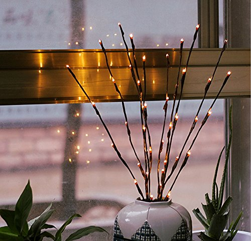 ブルームウイン(BLOOMWIN)小枝LED (2本セット)イルミネーションライト電池式 77cm 20LED ストリングライト クリスマス パーティー 結婚式 誕生日 飾りライト 室内 折り曲げ可能