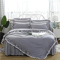 北欧 アンティークグレー 寝具カバー3点セット 掛け布団カバー 枕カバー ダブル