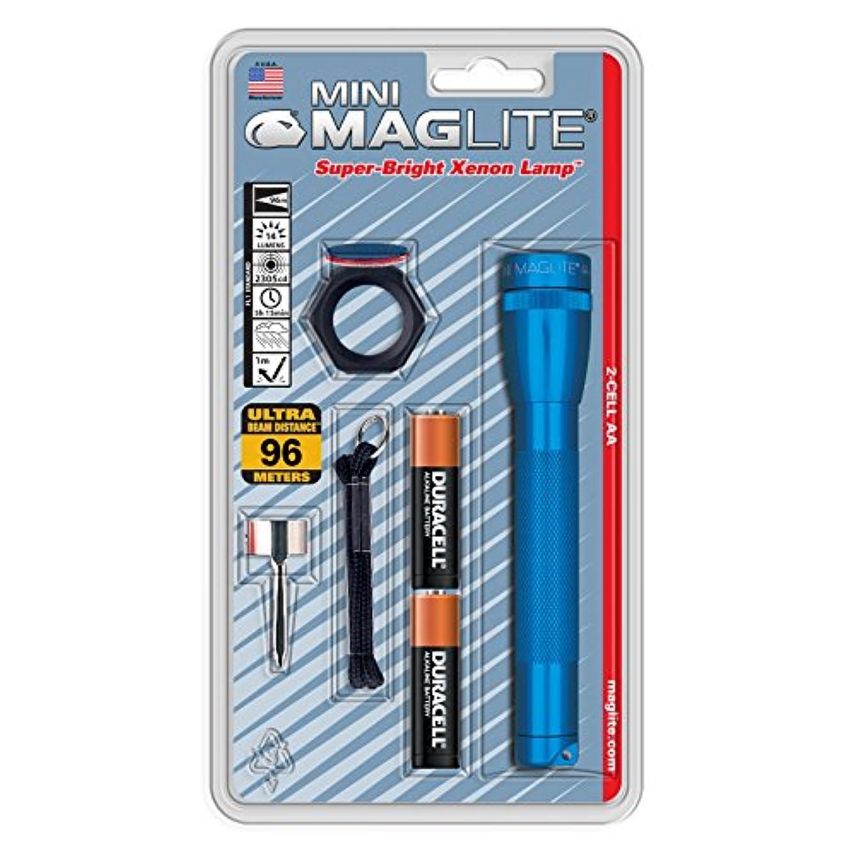 妊娠した怒る出血MAG-LITE(マグライト) ミニマグ 2A コンボパック ブルー M2A11C