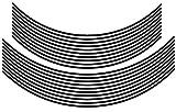エムディーエフ(MDF) リムストライプ ソリッドタイプ ブラック 【文字なし 無地】 4mm幅 16&17インチ RIM-4M-BK-16&17N