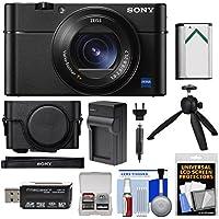 Sony Cyber - shot DSC - rx100VA 4K Wi - Fiデジタルカメラwith lcj-rxfジャケットケース+バッテリー&充電器+三脚+キット